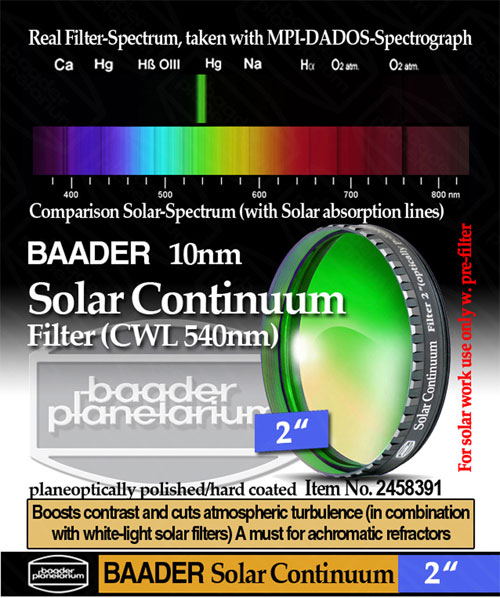 Baader Solar Continuum 540nm